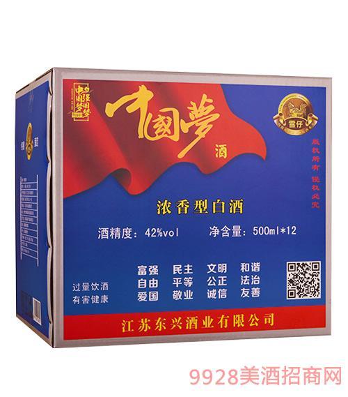 三发中国梦酒42度500mlx12