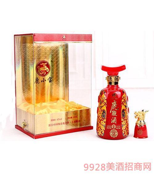 鹿鞭酒 透明包装 合金陶瓷龙酒杯