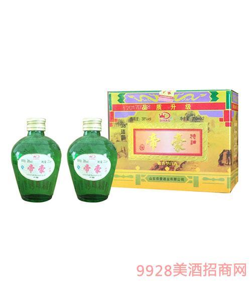 帝豪绿罐淡雅酒38度250mlx2