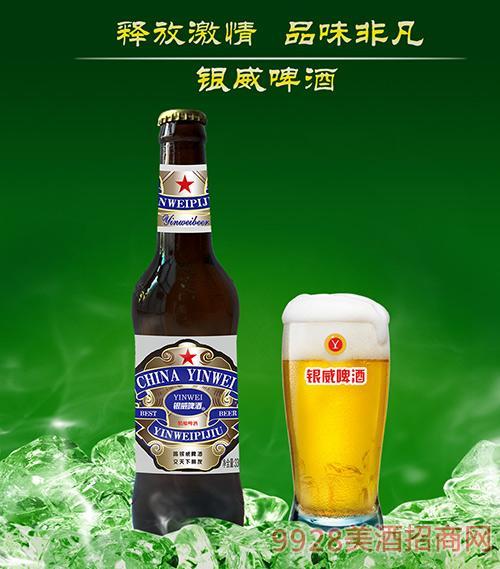 银威蓝(红百威棕瓶)10度330ml 1*24瓶/箱