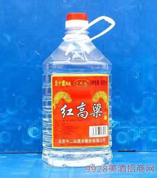 北京红高粱酒50度4000ml