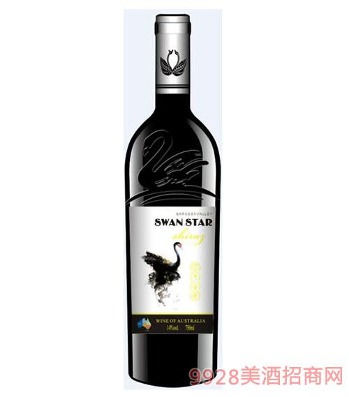 天�Z星西拉干�t葡萄酒