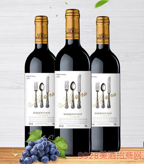 奥纳干红葡萄酒