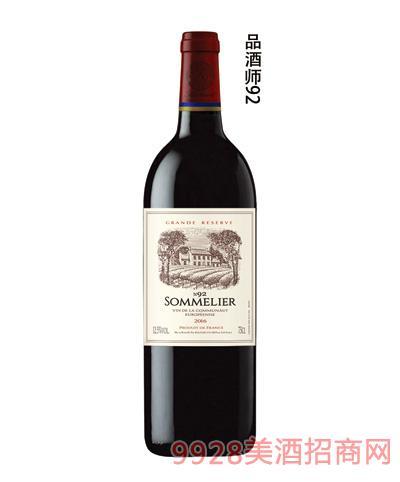 拉斐品酒师92干红葡萄酒13.5度750ml