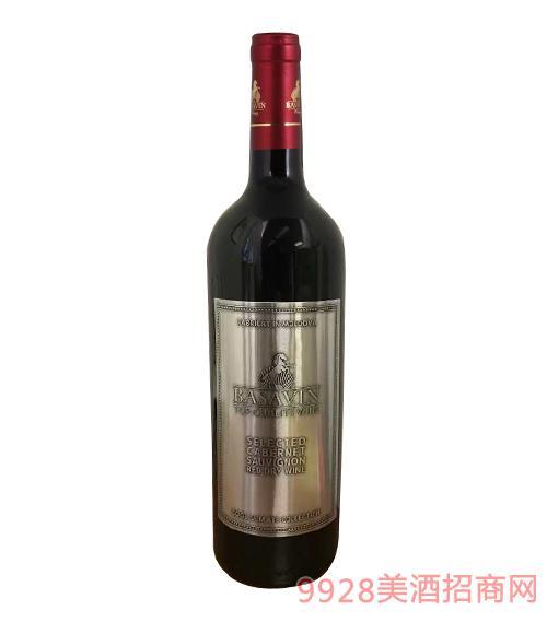巴萨酒庄干红葡萄酒14度750ml