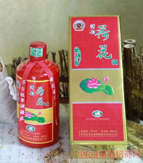 清韵荷花酒53度500ml