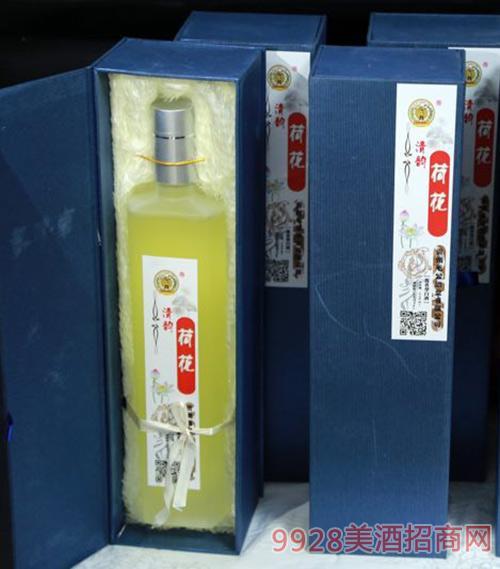 清韵荷花酒蓝盒53度500ml