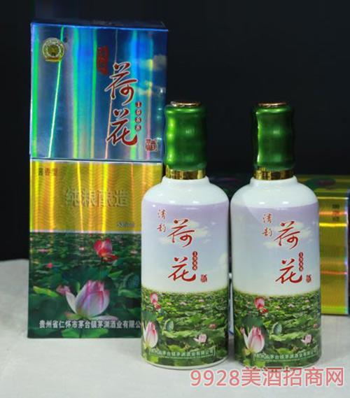 清韵荷花酒绿53度500ml
