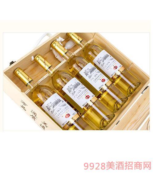 霞多��干白葡萄酒四支�b木�Y盒12度750ml