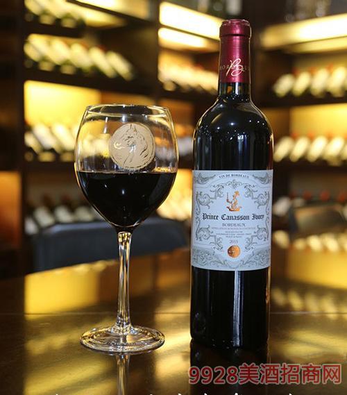 法国白马王子波尔多干红葡萄酒