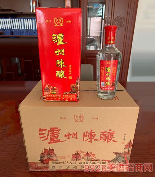 泸州陈酿酒42度500mlx6