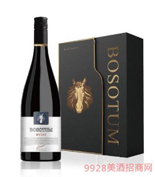 博赛图三号园混酿BV307干红葡萄酒13.5度750ml