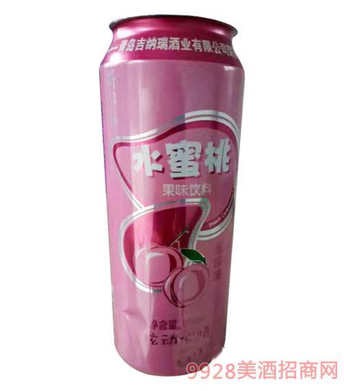 锐青水蜜桃味碳酸饮料500ml