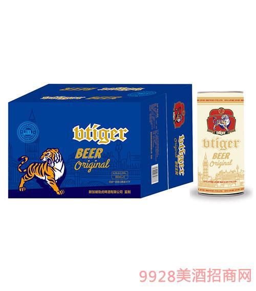 劲虎原浆白啤950ml