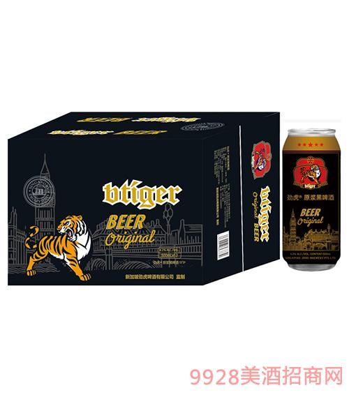 劲虎原浆黑啤500ml
