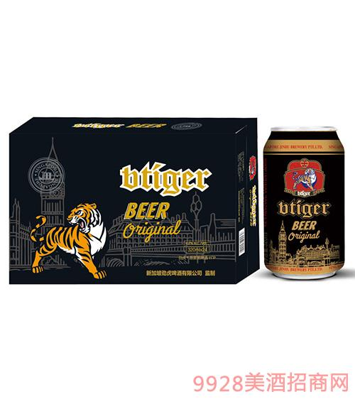 劲虎原浆黑啤320ml