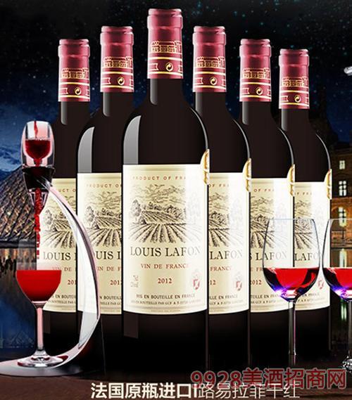 法國易路拉菲干紅葡萄酒2012