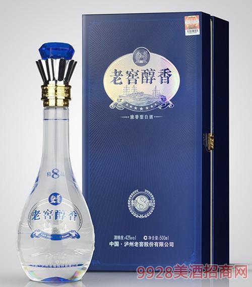 老窖醇香酒精品8-42度500ml