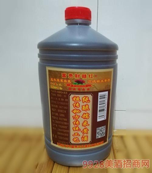 富貴財贛紅高級糯米黃酒3L