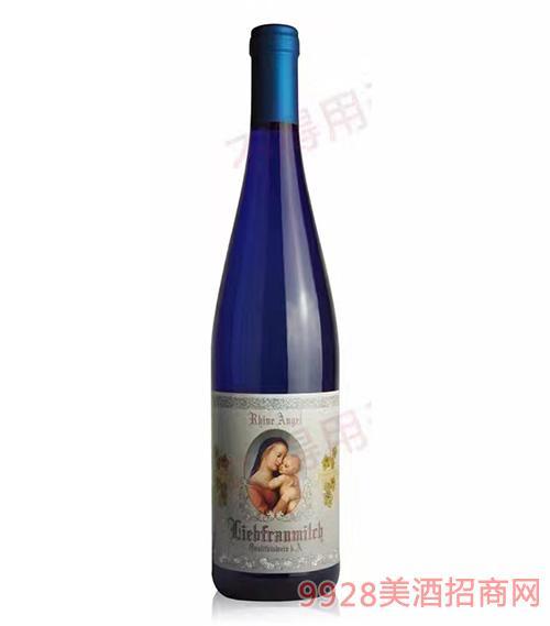 德国莱茵天使圣母之乳半甜白葡萄酒9度750ml