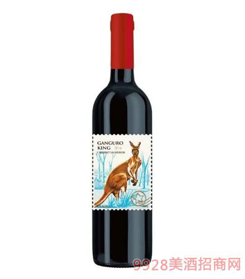 澳洲金袋鼠赤霞珠干�t葡萄酒14度750ml