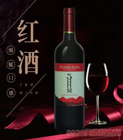 智利普莱诺赤霞珠红葡萄酒13度750ml