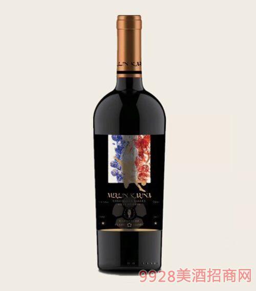 智利美琳卡佳美娜特级珍藏红葡萄酒14度750ml