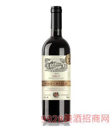 法国依托堡美乐干红葡萄酒2013