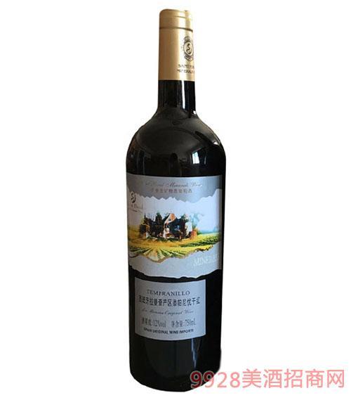 圣堡龙西班牙拉曼查产区添帕尼优干红葡萄酒