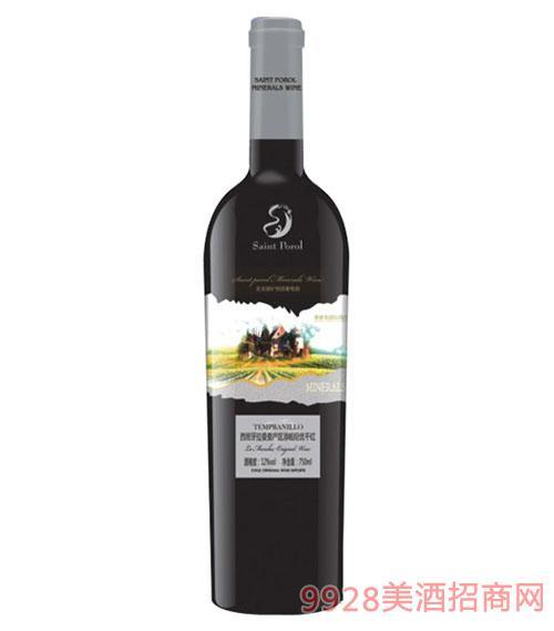 圣堡龙西班牙拉曼查添帕尼优干红葡萄酒