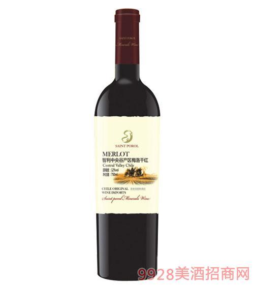 圣堡龙智利中央谷梅洛干红葡萄酒