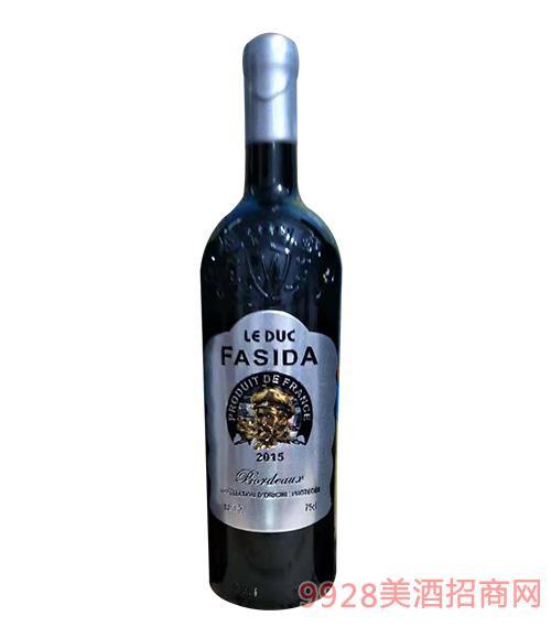 法国法斯达波尔多公爵干红葡萄酒14度750Ml