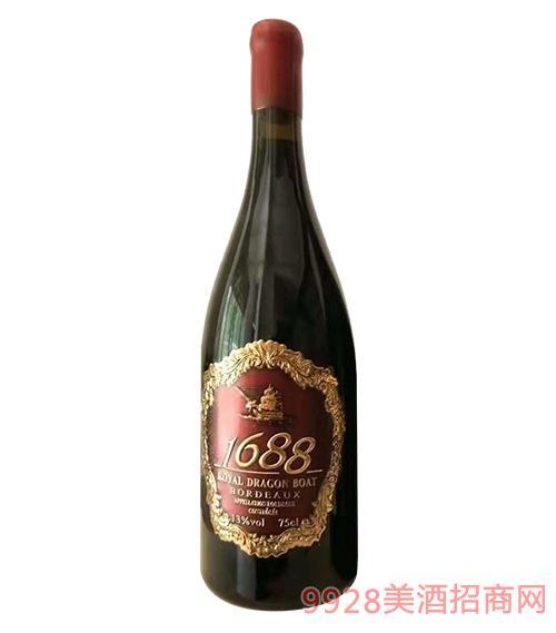 皇室龙船1688金舵干红葡萄酒750ml