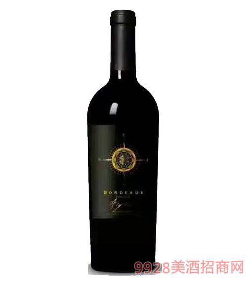 法国梅克多干红葡萄酒13度750Ml