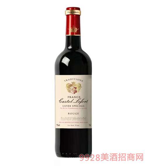 法国拉甫特古堡红葡萄酒13度750ml