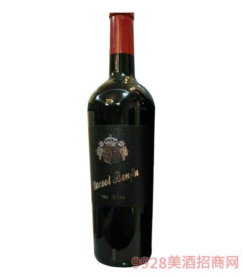 纳谷奔富西拉干红葡萄酒13.5度750ml