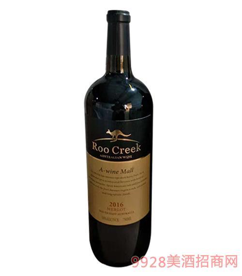 飞奔袋鼠梅洛红葡萄酒750ml