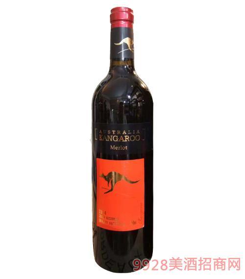 澳奔袋鼠美乐红葡萄酒750ml