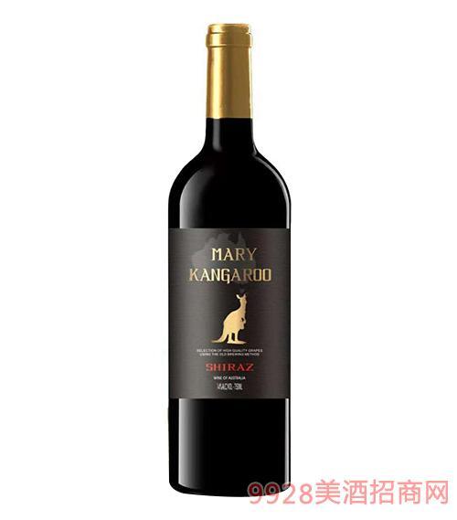 玛利袋鼠西拉干红葡萄酒14度750ml