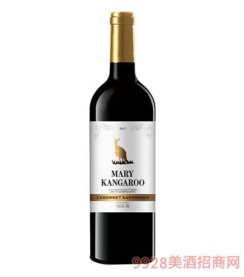 玛利袋鼠赤霞珠干红葡萄酒14度750ml