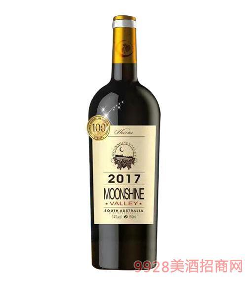 月光谷珍藏西拉干红葡萄酒14度750Ml