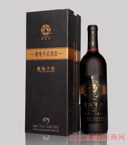 鹿龟干红葡萄酒12度750ml1x4