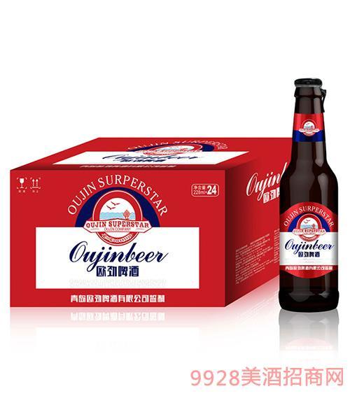 欧劲啤酒瓶装218mlx24