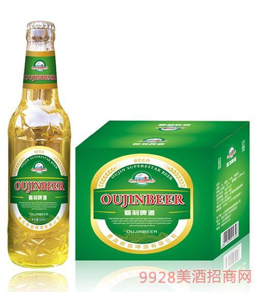 欧劲啤酒精品瓶装330mlx24
