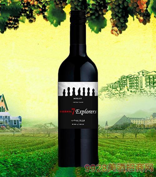 七巨人珍藏美乐干红葡萄酒