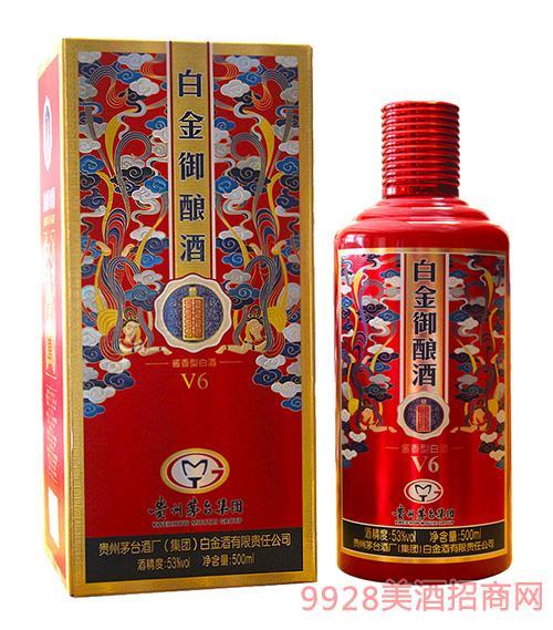 贵州茅台酒厂(集团)白金酒有限责任公司出品白金御酿酒V6红色