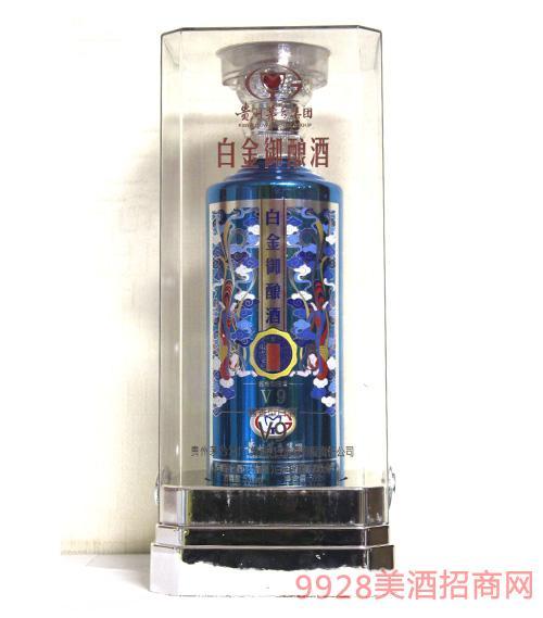 贵州茅台酒厂(集团)白金酒有限责任公司出品白金御酿酒V6蓝色