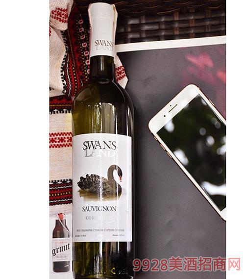 天鹅湖苏维翁干白葡萄酒 1.5L