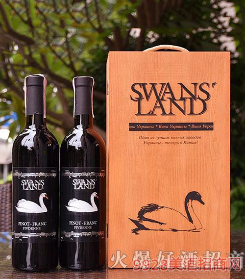 天鹅湖苏维翁黑皮诺半甜红葡萄酒750ML