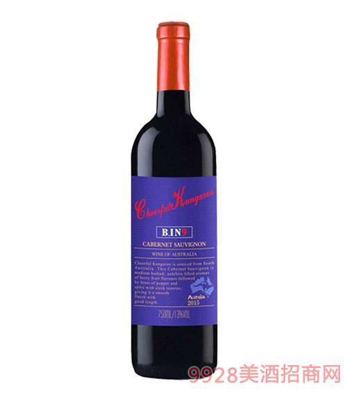喜悦袋鼠-赤霞珠干红葡萄酒(紫瓶)